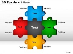 PowerPoint Slides Success Puzzle Pieces Ppt Slide