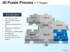 PowerPoint Slides Teamwork Puzzle Process Ppt Themes