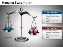 PowerPoint Slides With Clipart Image Of A Weighing Scale