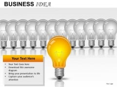 PowerPoint Slides With Light Bulb Illuminated Team PowerPoint Templates