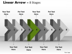 PowerPoint Template 3d Arrow Representing Eight Sequential Steps Business Image