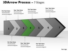 PowerPoint Template 3d Continuous Arrow Steps Ishikawa Diagram Image