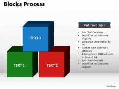 PowerPoint Template Blocks Process Sales Ppt Themes