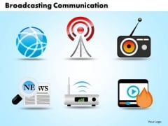 PowerPoint Template Broadcasting Communication Business Ppt Slides