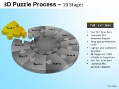 PowerPoint Template Business Designs Puzzle Segment Pie Chart Ppt Slide
