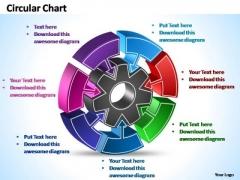 PowerPoint Template Business Interconnected Circular Chart Ppt Slides