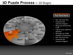 PowerPoint Template Business Pie Chart Puzzle Process Ppt Slides