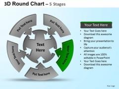 PowerPoint Template Business Round Process Flow Chart Ppt Design Slides