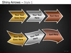 PowerPoint Template Business Strategy Shiny Arrows Ppt Designs