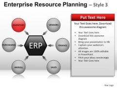 PowerPoint Template Business Strategy Targets Enterprise Resource Planning Ppt Slide
