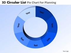PowerPoint Template Business Success 3d Pie Chart List Ppt Slide Designs