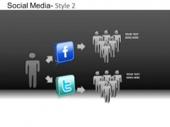PowerPoint Template Business Success Social Media Ppt Process