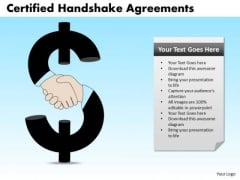 PowerPoint Template Certified Handshake Agreements Business Ppt Backgrounds