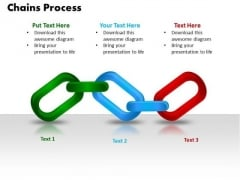 PowerPoint Template Chains Process Marketing Ppt Slides