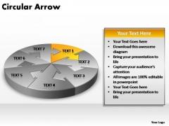 PowerPoint Template Chart Circular Arrow Ppt Slide Designs
