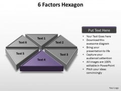 PowerPoint Template Chart Factors Hexagon Ppt Theme