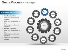 PowerPoint Template Chart Gears Process Ppt Process