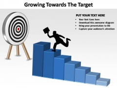 PowerPoint Template Chart Growing Towards Ppt Backgrounds
