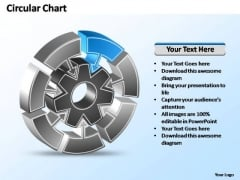 PowerPoint Template Chart Interconnected Circular Chart Ppt Slides