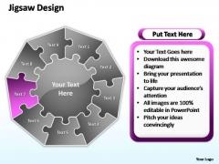PowerPoint Template Chart Jigsaw Format Ppt Template