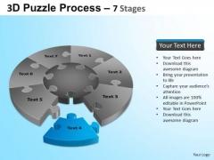 PowerPoint Template Chart Jigsaw Pie Chart Ppt Theme