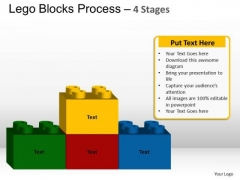 PowerPoint Template Chart Lego Blocks Ppt Backgrounds