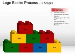 PowerPoint Template Chart Lego Blocks Ppt Template