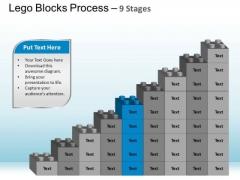 PowerPoint Template Chart Lego Blocks Ppt Theme