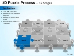 PowerPoint Template Chart Puzzle Process Ppt Template