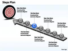 PowerPoint Template Chart Steps Plan Ppt Slides