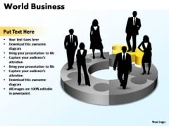 PowerPoint Template Chart World Business Ppt Slides