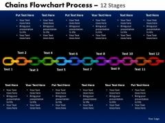 PowerPoint Template Circular Chart Chains Flowchart Ppt Presentation