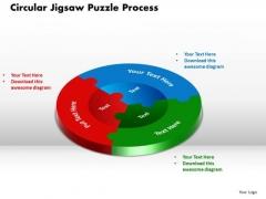 PowerPoint Template Circular Jigsaw Puzzle Teamwork Ppt Slides