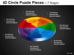 PowerPoint Template Circular Process Circle Puzzle Diagram Ppt Design