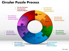 PowerPoint Template Circular Puzzle Process Company Ppt Slide