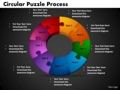 PowerPoint Template Circular Puzzle Process Marketing Ppt Slide Designs