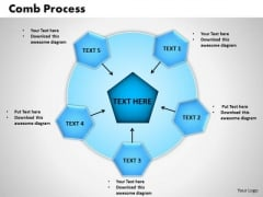 PowerPoint Template Comb Process Process Ppt Slides