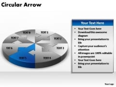 PowerPoint Template Company Circular Arrow Ppt Backgrounds