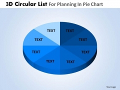 PowerPoint Template Company Competition 3d Circular Process List Ppt Presentation Designs