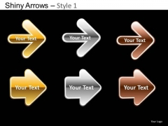 PowerPoint Template Company Designs Shiny Arrows Ppt Layout