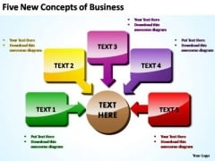 PowerPoint Template Company Five New Concepts Ppt Theme