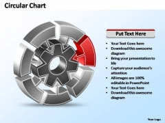 PowerPoint Template Company Interconnected Circular Chart Ppt Slide