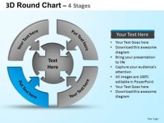 PowerPoint Template Company Round Process Flow Chart Ppt Design