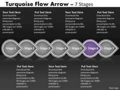 PowerPoint Template Continual Seven Stages Linear Flow Business Strategy Business Image