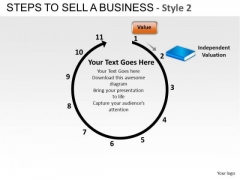 PowerPoint Template Corporate Growth Steps To Sell A Business Style 2 Ppt Theme