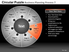 PowerPoint Template Corporate Success Circular Puzzle Ppt Slide