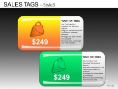 PowerPoint Template Corporate Teamwork Sales Tags Ppt Design