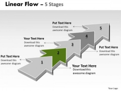 PowerPoint Template Corporation Step By Non Linear Ideas Flow Image