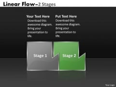 PowerPoint Template Custom Mechanism Of Linear Flow Strategy Graphic