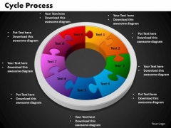 PowerPoint Template Cycle Process Chart Ppt Themes